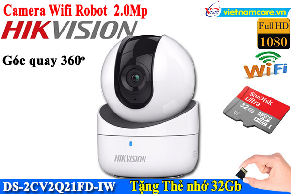 Camera IP Robot không dây 2.0 Megapixel HIKVISION DS-2CV2Q21FD-IW