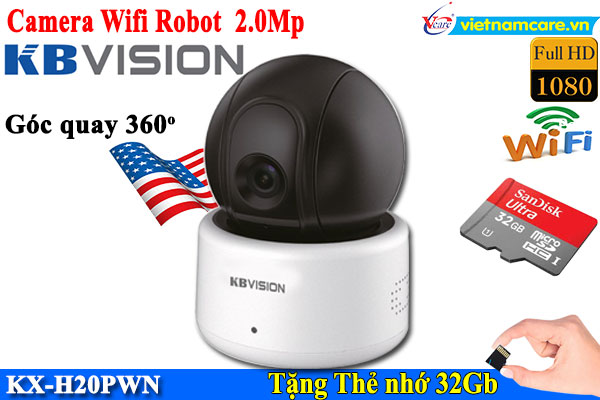 Camera IP Robot 2MP KBVISION KX-H20PWN