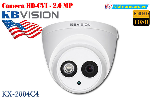 Camera Dome HD 2.0 MP KBVISION KX-2004C4