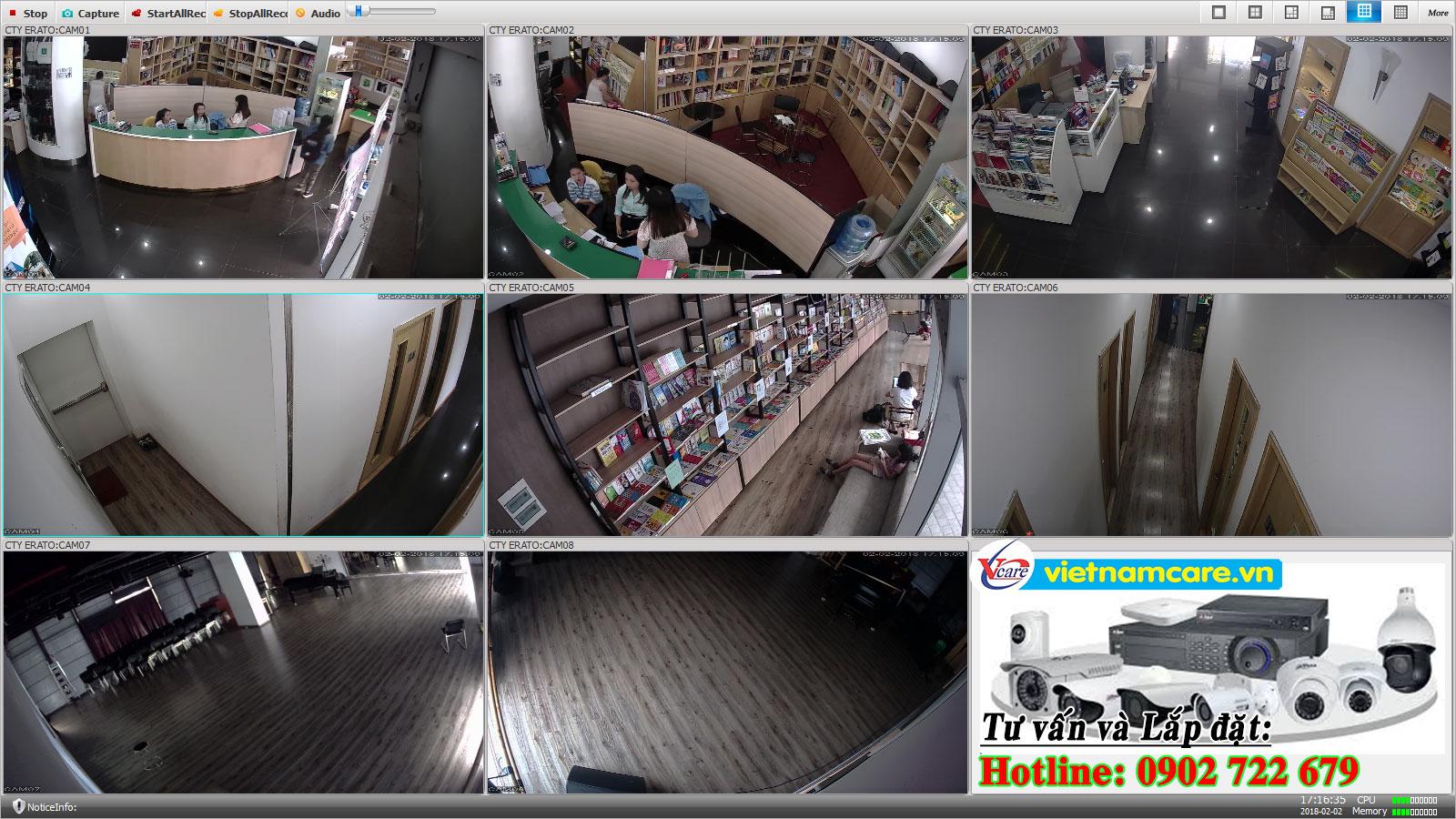 Lắp đặt camera quan sát tại huyện củ chi