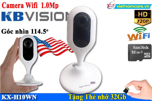 Camera IP hồng ngoại không dây 1.0 Megapixel KBVISION KX-H10WN