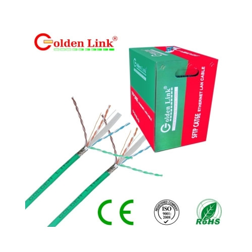 CABLE MẠNG GOLDEN LINK SFTP Cat 6E(Xanh lá)
