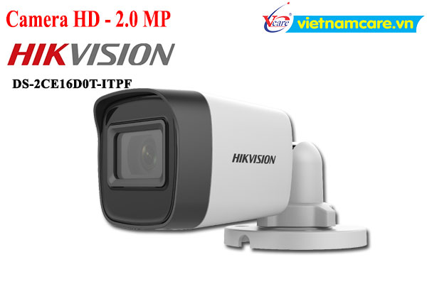 Camera Thân HDTVI 2MP HIKVISION DS-2CE16D0T-ITPF