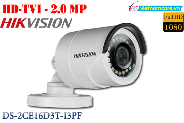 Camera Thân HDTVI 2MP HIKVISION DS-2CE16D3T-I3P