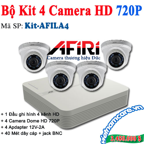 BỘ KIT 4 CAMERA HD AFIRI KIT-AFILA4