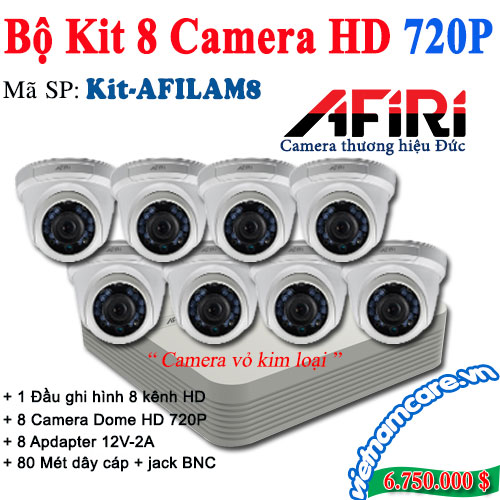BỘ KIT 8 CAMERA HD AFIRI KIT-AFILAM8