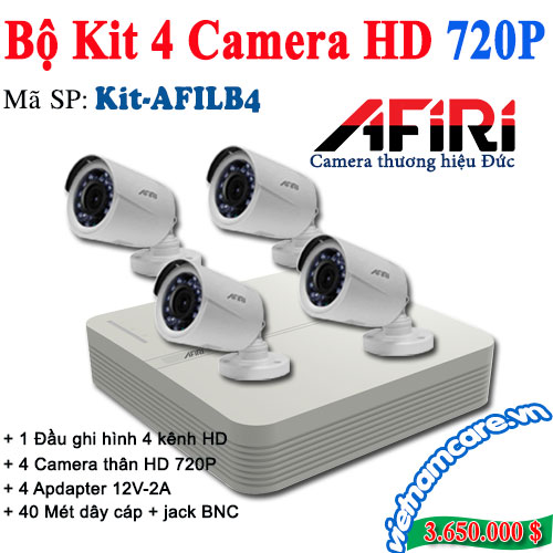 BỘ KIT 4 CAMERA HD AFIRI KIT-AFILB4