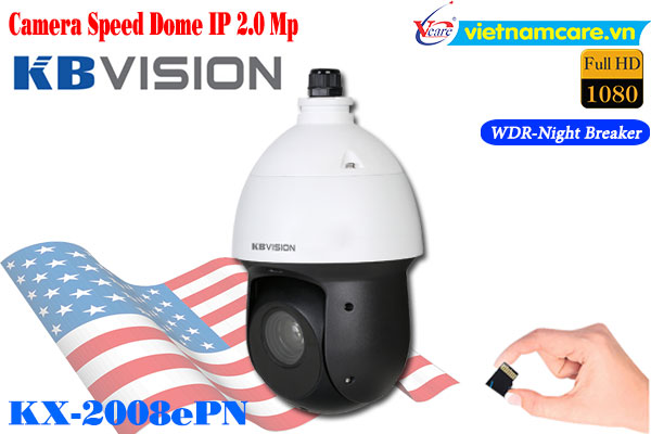 Camera Speed Dome IP 2MP KBVISION KX-2008ePN