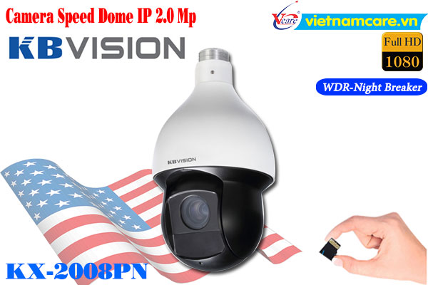 Camera Speed Dome IP Kbvision KX-2008PN (2.0MP)