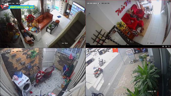 hình ảnh camera được lắp đặt tại củ chi
