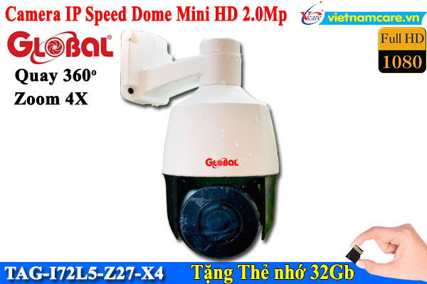 Camera IP Speed Dome mini HD 2M Global TAG-I72L5-Z27-X4
